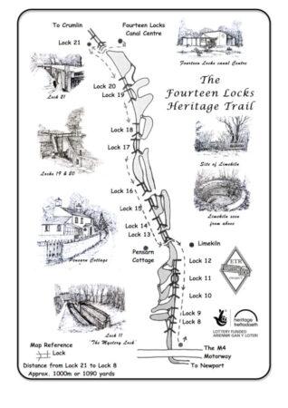 Fourteen Locks Heritage Trail map