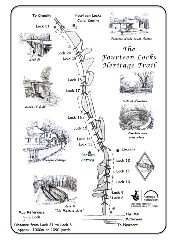 Fourteen Locks Heritage Trail map