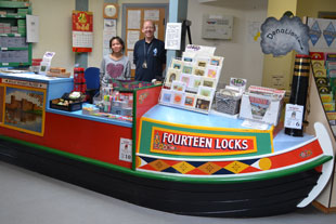 View of the Fourteen Locks Shop Boat