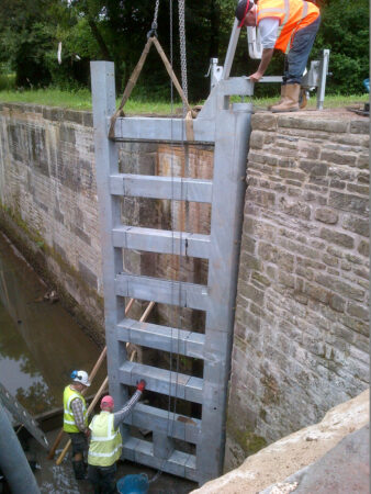 Lower Brake Lock installing new lock gate