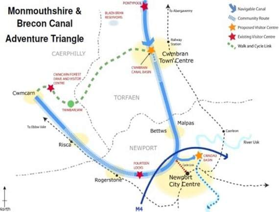 Adventure Triangle map