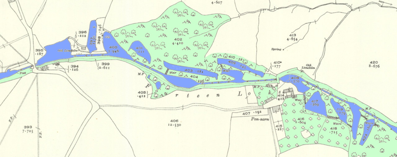 Cefn Flight map early 20th century