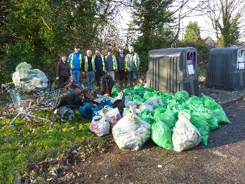 Torfaen Canal Volunteers lots of rubbish collected