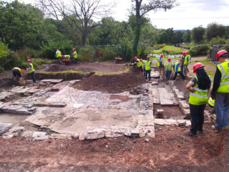 Ty Coch archeology dig 2019