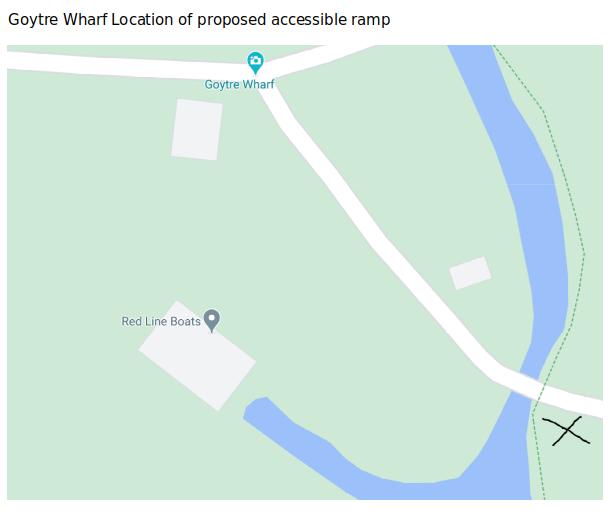 Goytre Wharf Ramp Location