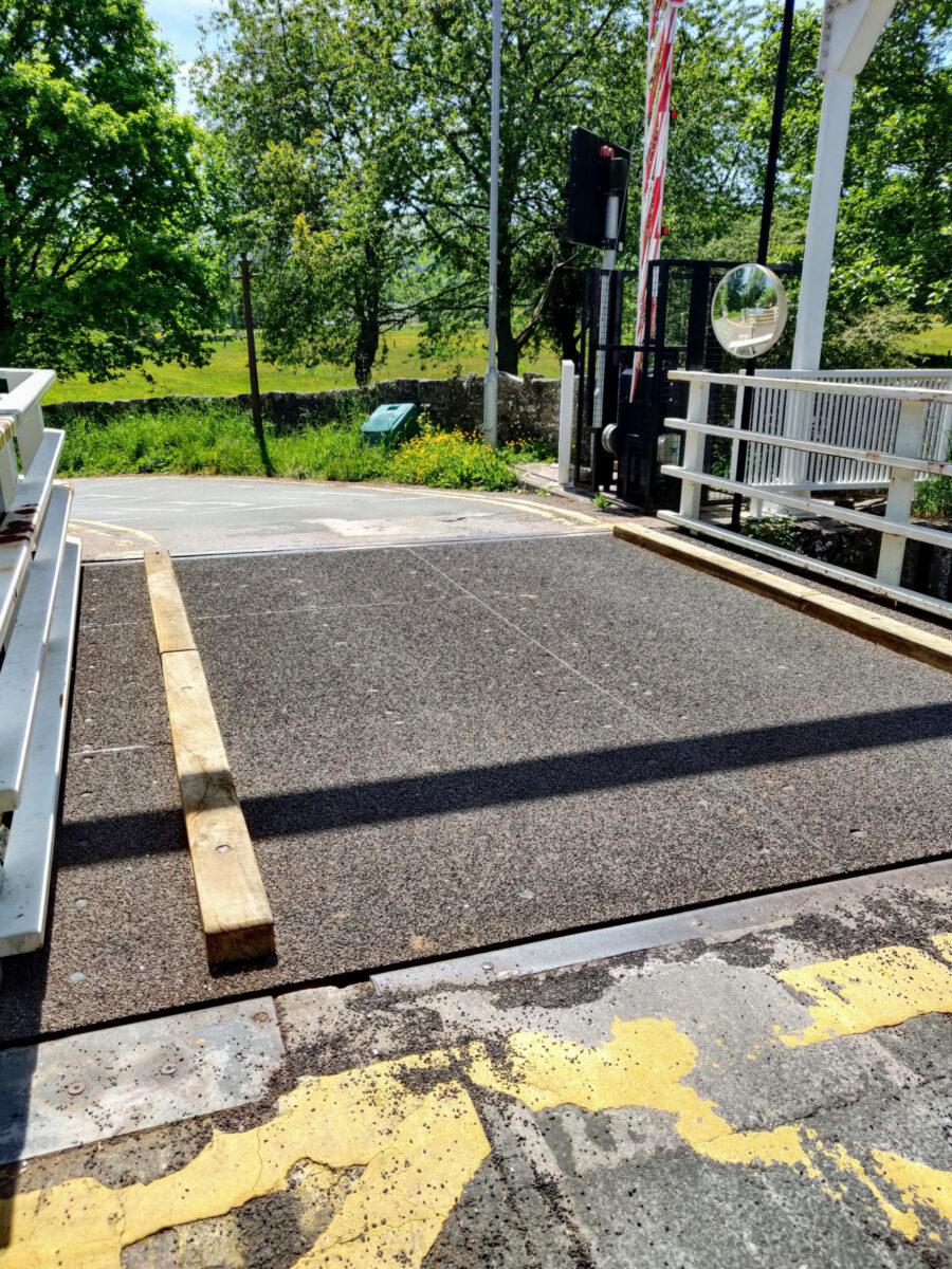 New road surface on Talybont Drawbridge