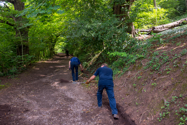 MBACT Volunteers at Allt-yr-yn Nature Reserve